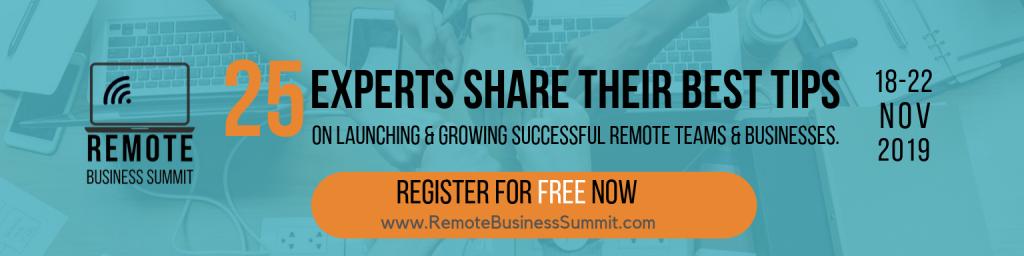 Remote Business Summit bannenr